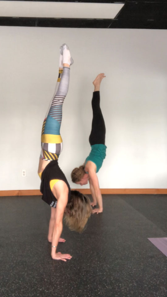 Me with my handstanding buddy Julie!